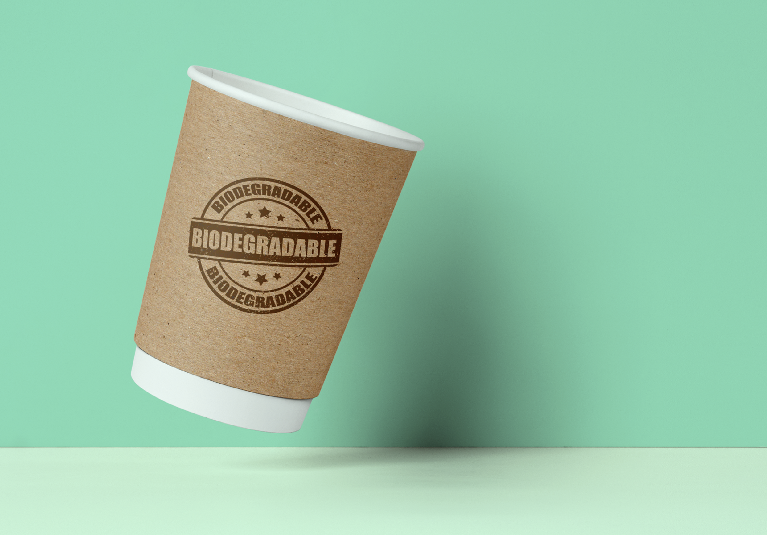 Compostable custom printed paper cup for a buyers guide blog post