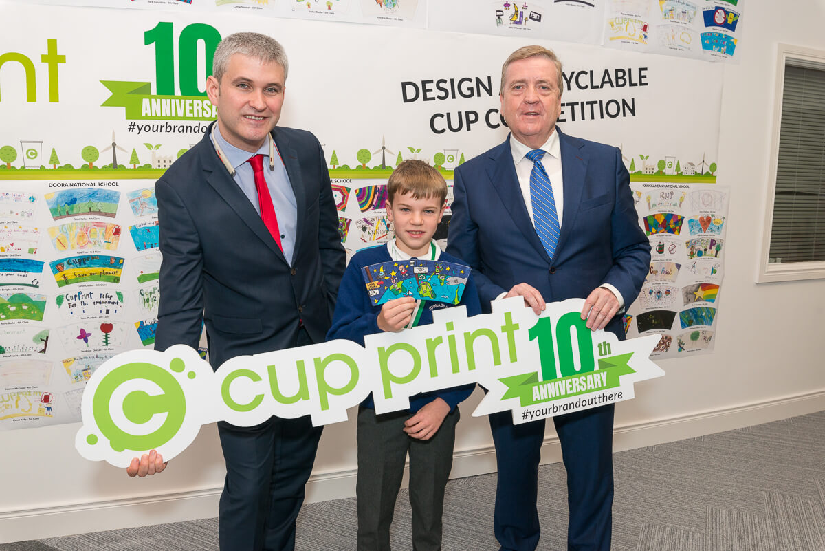Images from event for schools design a recyclable paper cup competition to mark CupPrint's 10th anniversary