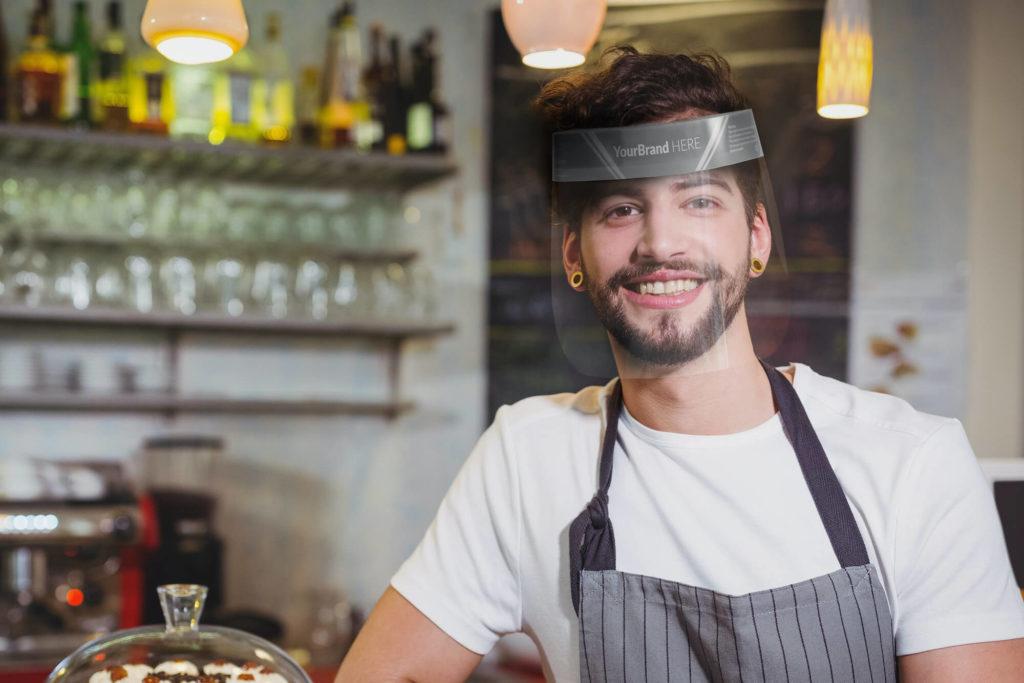 custom printed protective face shield visor Ireland